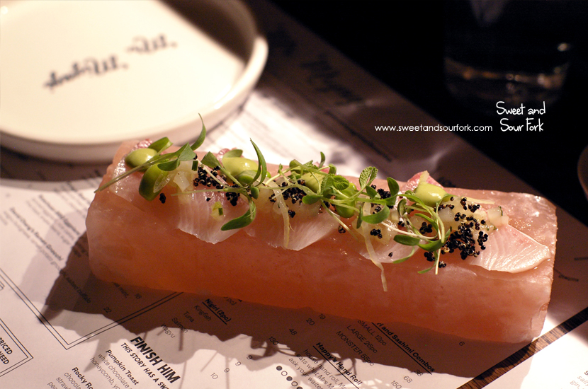 Himalayan Salt Slab Cured Kingfish ($15, 4pcs)