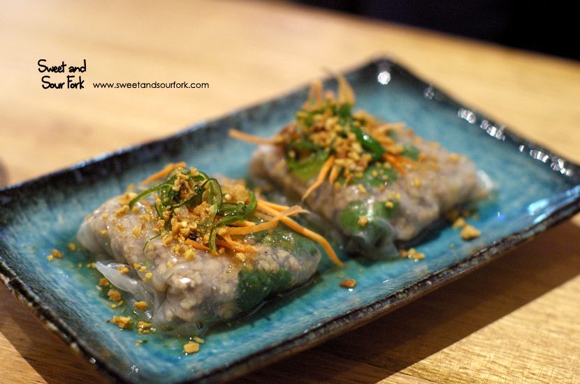 Minced Pork and Prawn Rice Paper ($8, 2pcs)