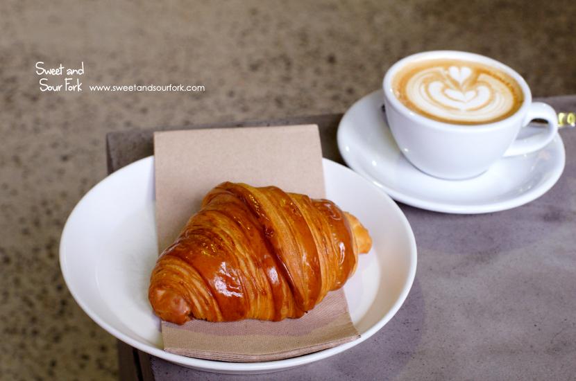 Croissant ($5.5)/Flat White ($4)