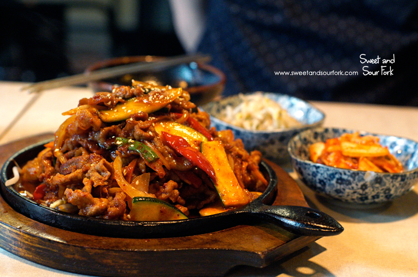 Pork Bulgogi with Korean Spicy BBQ Sauce ($24.9, large)