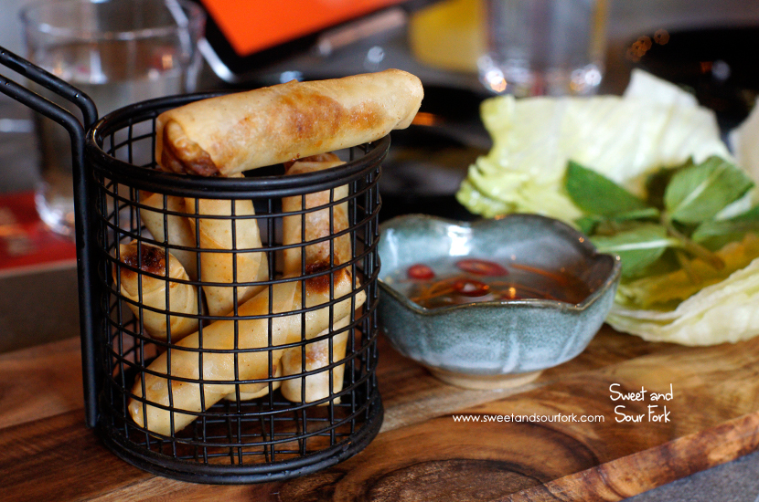 Pork and Prawn Spring Rolls ($9, 6pcs)