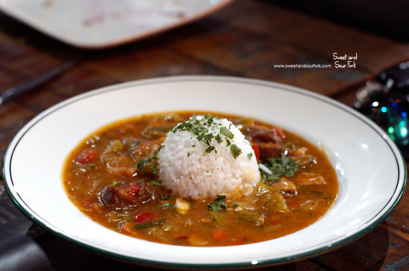 Chicken and Andouille Gumbo ($20)