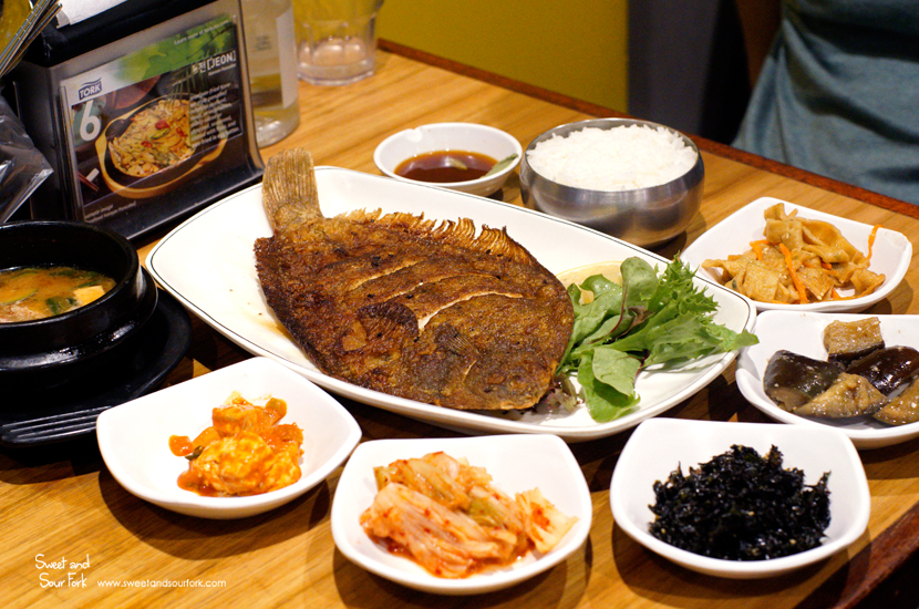 Grilled Flatfish Meal ($18)