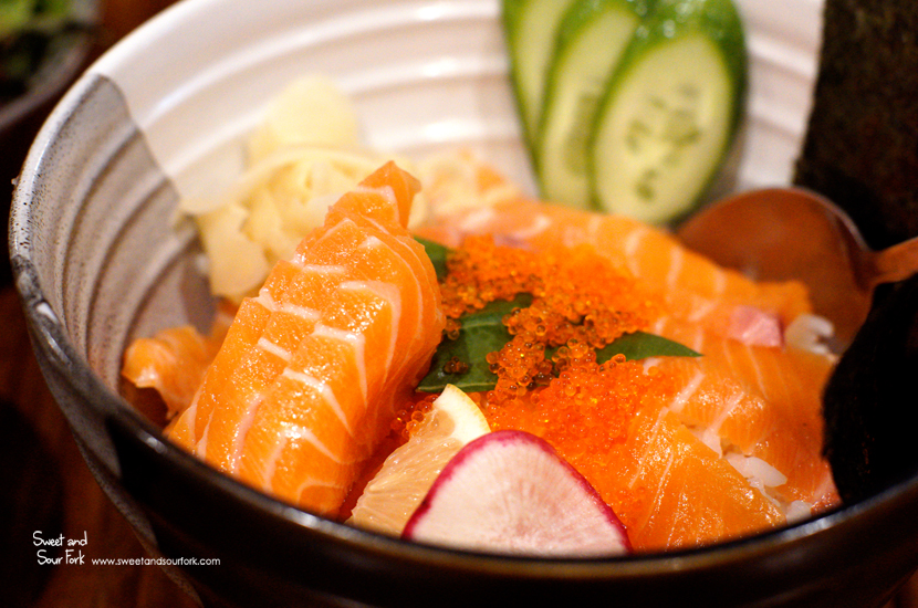 Salmon Sashimi Don ($15)