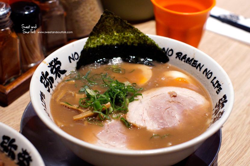 Egg Ramen ($16.8) in Tonkotsu Shoyu Base
