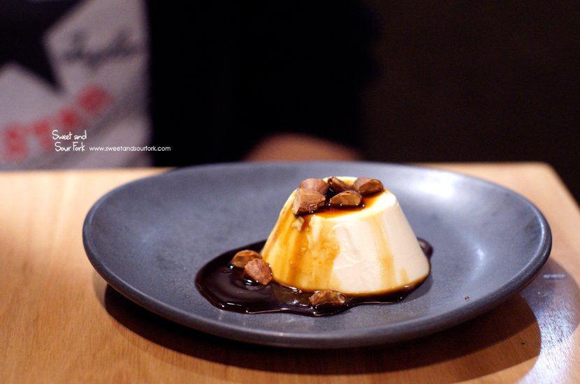 Ricotta Panacotta, Espresso Caramel, Almonds ($11)