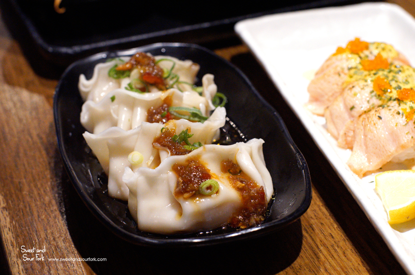 Steamed Prawn Gyoza ($5.9, spicy)