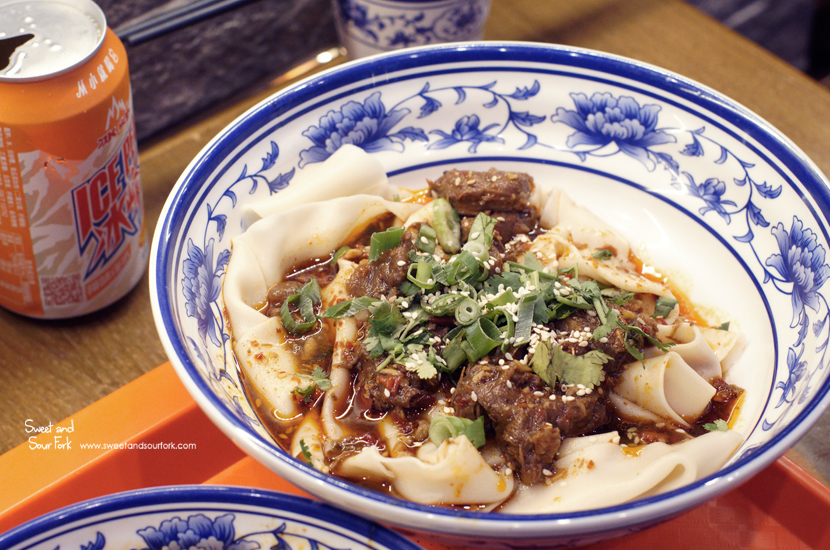 Biang Biang Noodle with Beef ($13)