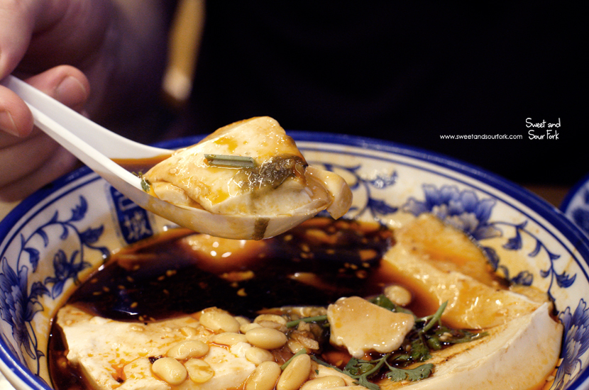 Silken Tofu with Soy Sauce Dressing ($6)