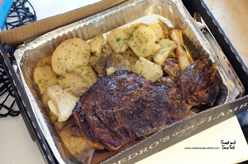 Whole Lamb Shoulder with Scalloped Potatoes ($50)