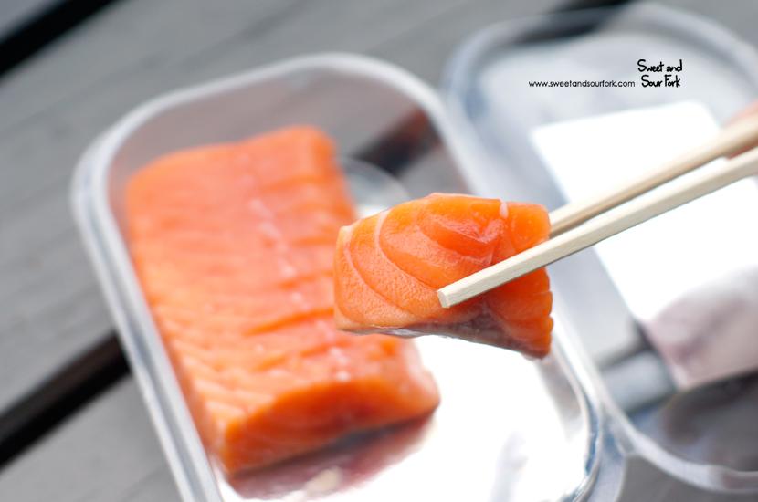 Salmon Sashimi ($10NZD, 100g)