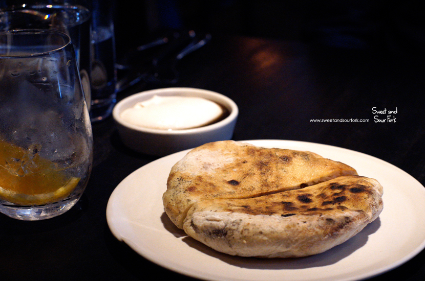 Fermented Potato Flatbread, Shiitake and Macadamia ($8)