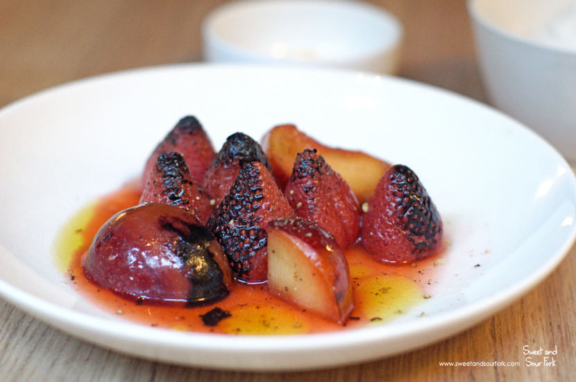 Grilled Strawberries, Plums, Umeshu ($15)