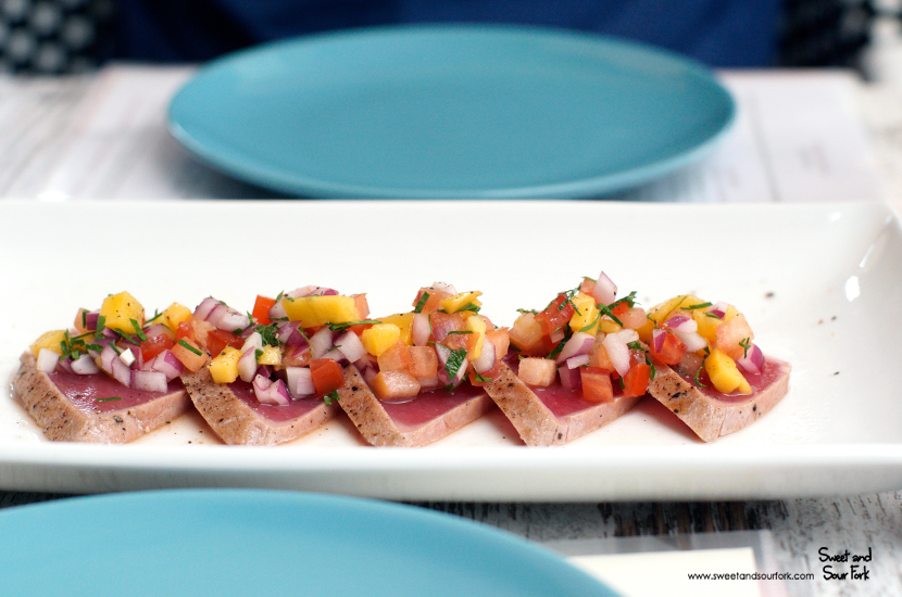 Tuna Bruschetta ($22, 5pcs)